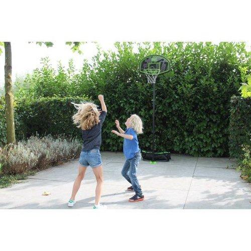 Exit EXIT Hoopy junior verplaatsbaar basketbalbord - groen/zwart