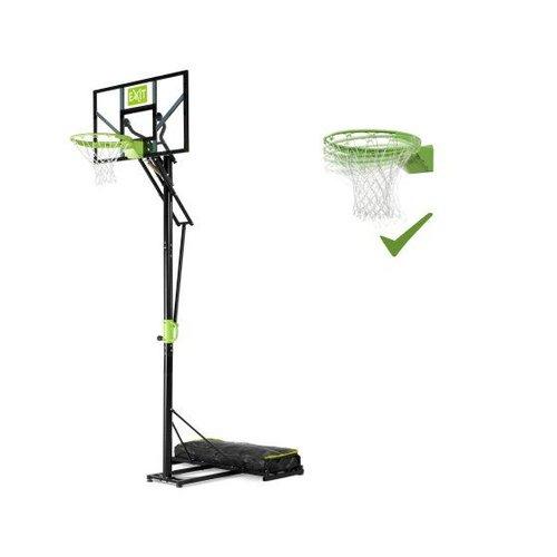 Exit EXIT Galaxy basketbalbord voor grondmontage met dunkring - groen/zwart