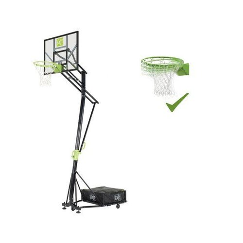 Exit EXIT Galaxy verplaatsbaar basketbalbord op wielen met dunkring - groen/zwart
