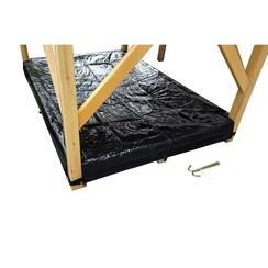 EXIT afdekzeil zandbak voor houten speelhuis Loft en Crooky (500-750) - zwart