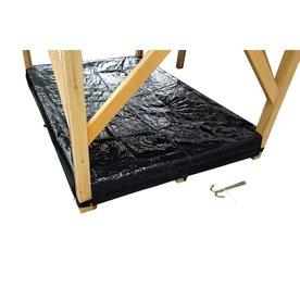 Exit EXIT afdekzeil zandbak voor houten speelhuis Loft en Crooky (500-750) - zwart