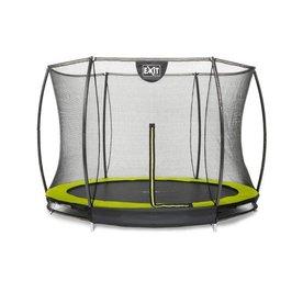 Exit EXIT Silhouette inground trampoline ø244cm met veiligheidsnet - groen