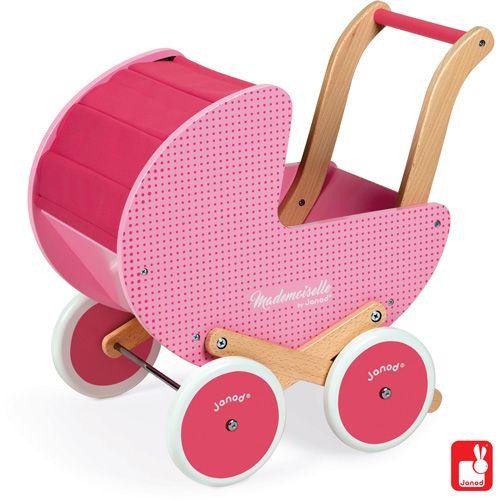 Mooie houten poppenwagens, Janod, van Dijk Toys, Simply