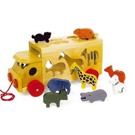 Playwood Vormen Auto wilde dieren