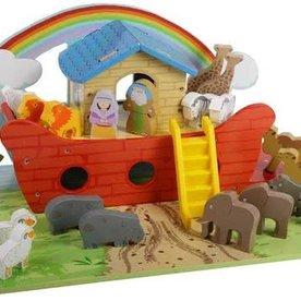 Houten Ark van Noach, inclusief  grondplaat