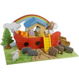 Playwood Houten Ark van Noach, inclusief  grondplaat