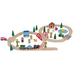 Metnari houten treinset 6127- 51 delig