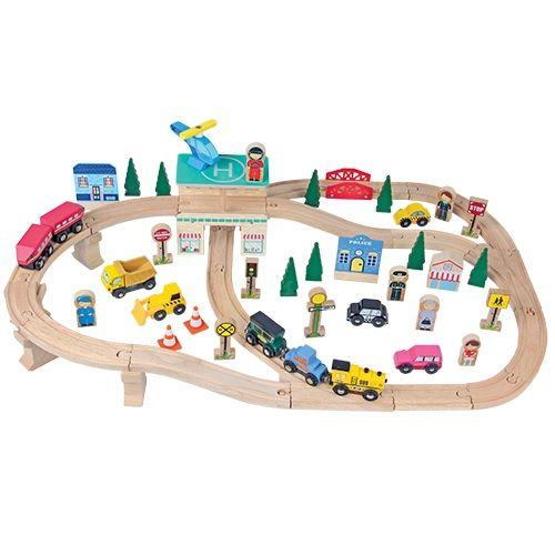Mooie houten treinbaan van Mentari
