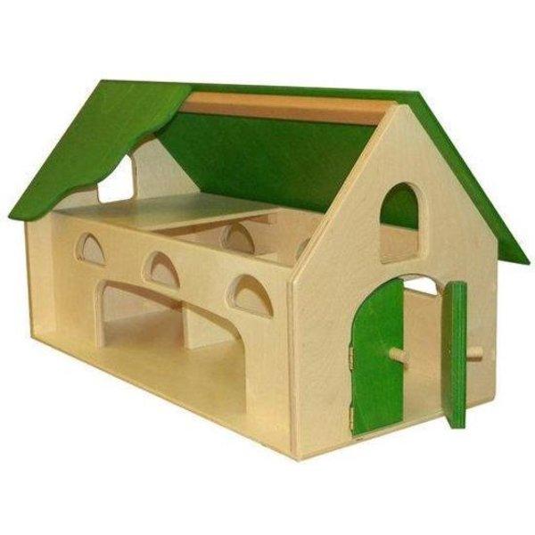 Van Dijk Toys Houten Boerderij Limegroen, van Dijk Toys