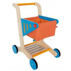 Hape Houten winkelwagentje Oranje