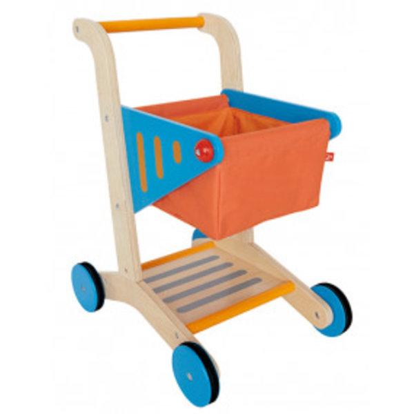 Hape Hape winkelwagen Oranje, hout