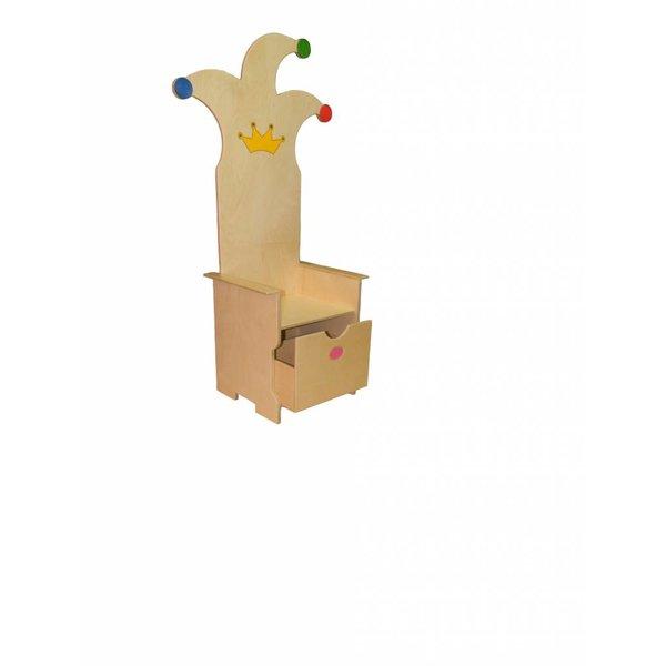 Van Dijk Toys Houten verjaardag stoel voor kinderdagveblijf
