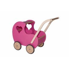 Poppenwagen Roze, open hart