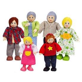 Hape Poppenhuisfamilie Happy Family - Caucasian