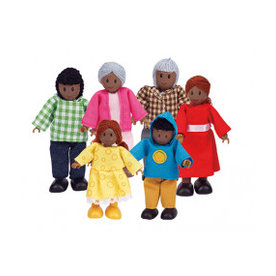 Hape Poppenfamilie Happy Family - African American, Hape