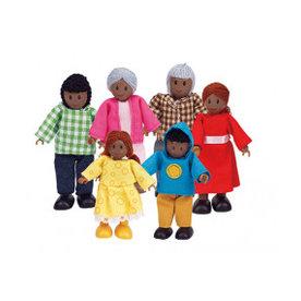 Hape Poppenfamilie Happy Family - African American, Hape
