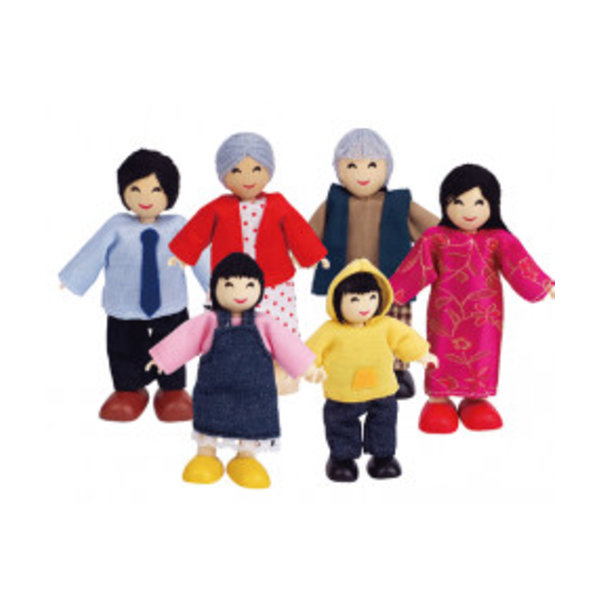 Hape Poppenhuisfamilie Happy Family - Asian