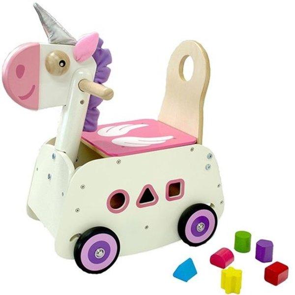 I'm Toy  Loopwagen Eenhoorn met schommelfunctie, I'm Toy
