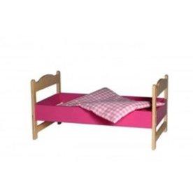 Van Dijk Toys Poppenbedje Roze inclusief dekje, van Dijk Toys
