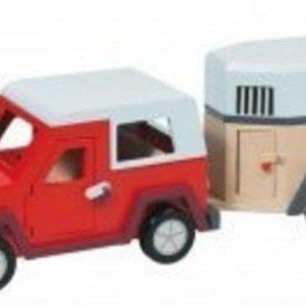 Goki Jeep met Trailer, Goki