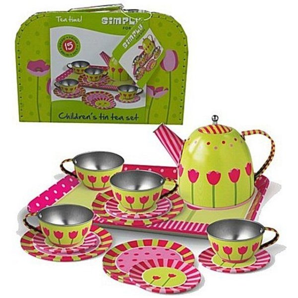 Simply For Kids Speelgoed Theeset Tulp Tin in Koffer, Simply for Kids