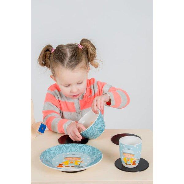 van Dijk Toys Kinderservies WInter Blauw, Studio Youki