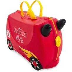 Trunki Kinderkoffer Racewagen Rocco, Gratis Knuffeltje