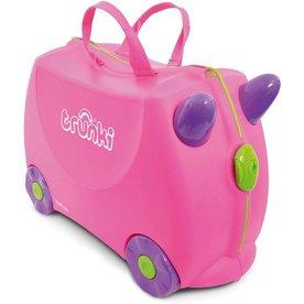 Trunki Trunki Kinderkoffer Trixie Roze, Gratis Knuffel poesje