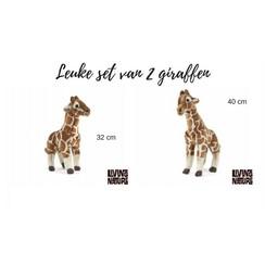 Knuffel Giraffen, set van 2 stuks