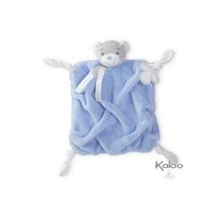 Kaloo Plume - knuffeldoekje beer blauw