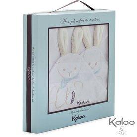 Kaloo Knuffeldoekje met bunny oren, 2 stuks
