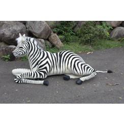 Knuffel Zebra liggend 160 cm, Hansa