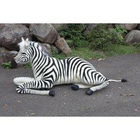 Hansa Knuffel Zebra liggend 160 cm, Hansa