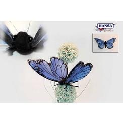 Pluche Vlinder Blauw, Hansa