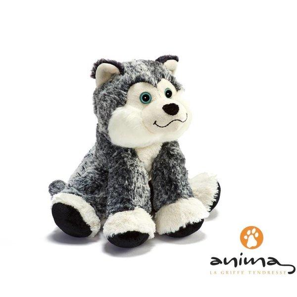 Anima Knuffel Husky, zittend, 25 cm, Anima
