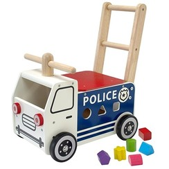 Houten Loopauto Politie,  I'm Toy