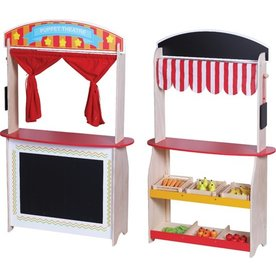 Playwood Theater en winkel met Accessoires, 2 in 1, Playwood