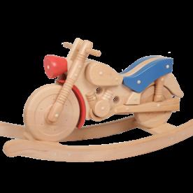 Van Dijk Toys Hobbelmotor hout, van Dijk Toys