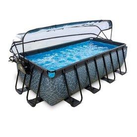 EXIT zwembad  400x200cm met overkapping en filterpomp