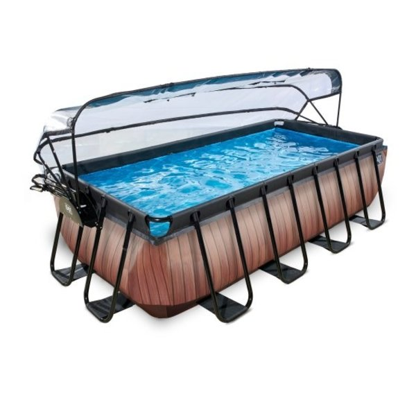 EXIT zwembad 400x200cm met overkapping en zandfilterpomp