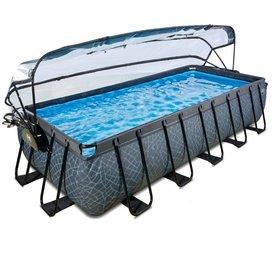 Exit EXIT zwembad 540x250cm met overkapping en zandfilterpomp