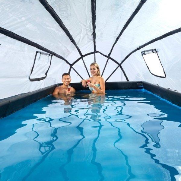 EXIT zwembad 540x250cm met overkapping en zandfilterpomp