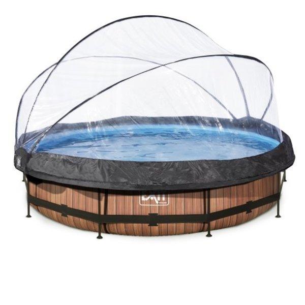 EXIT  zwembad ø360x76cm met overkapping en filterpomp