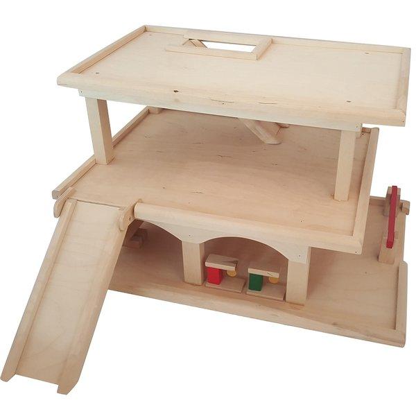 Playwood Speelgoed Garage Hout Groot, Playwood