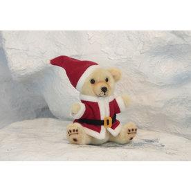 Hansa Pluche Kerstbeertje, 20 cm