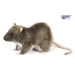 Pluche Bruine Rat, 19 cm, Hansa