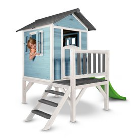Sunny  speelhuisjes Speelhuis Lodge XL Blauw - Wit, Sunny