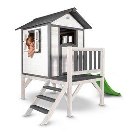 Sunny  speelhuisjes Speelhuis Lodge XL (grijs/wit), Sunny