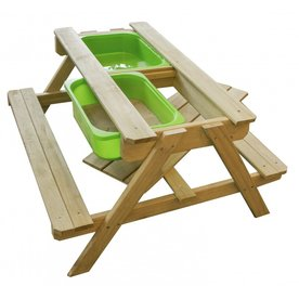 Sunny  speelhuisjes Dual Top Table Zand & Water Picknicktafel