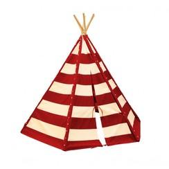 Lumo Tipi Tent met verlichting Rood / Wit